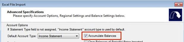 Modify layout file to Accumulate Balances