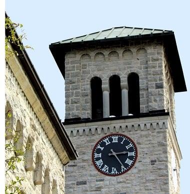 Grant Hall Clock at Queens University 380 x 387 left margin