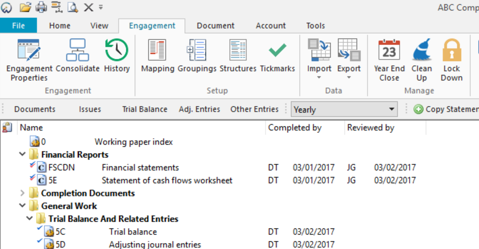 COmpleted columns added to the Document Manager