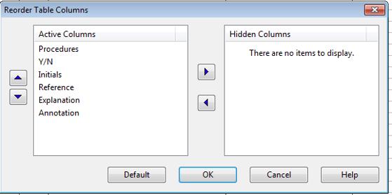 Reorder Columns