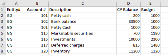Review Excel file to be imported for duplicate accounts