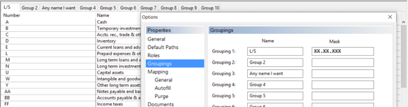 10 groupings