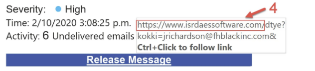 example of malicious link
